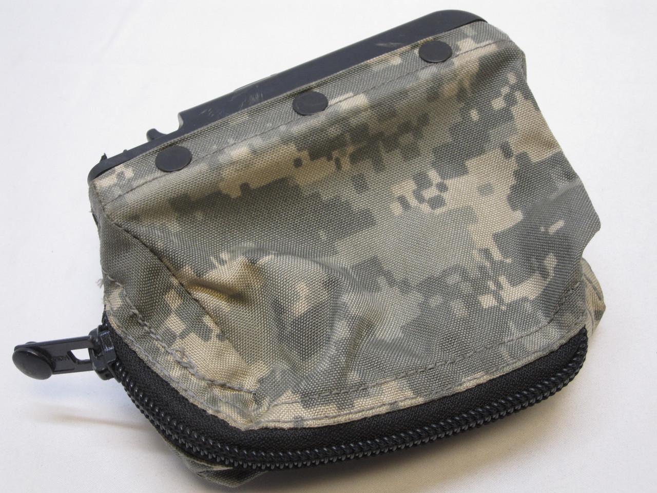 USED ACU DIGITAL M249 AMMO POUCH 100 ROUND SOFT PACK NUT SACK SAW 5.56