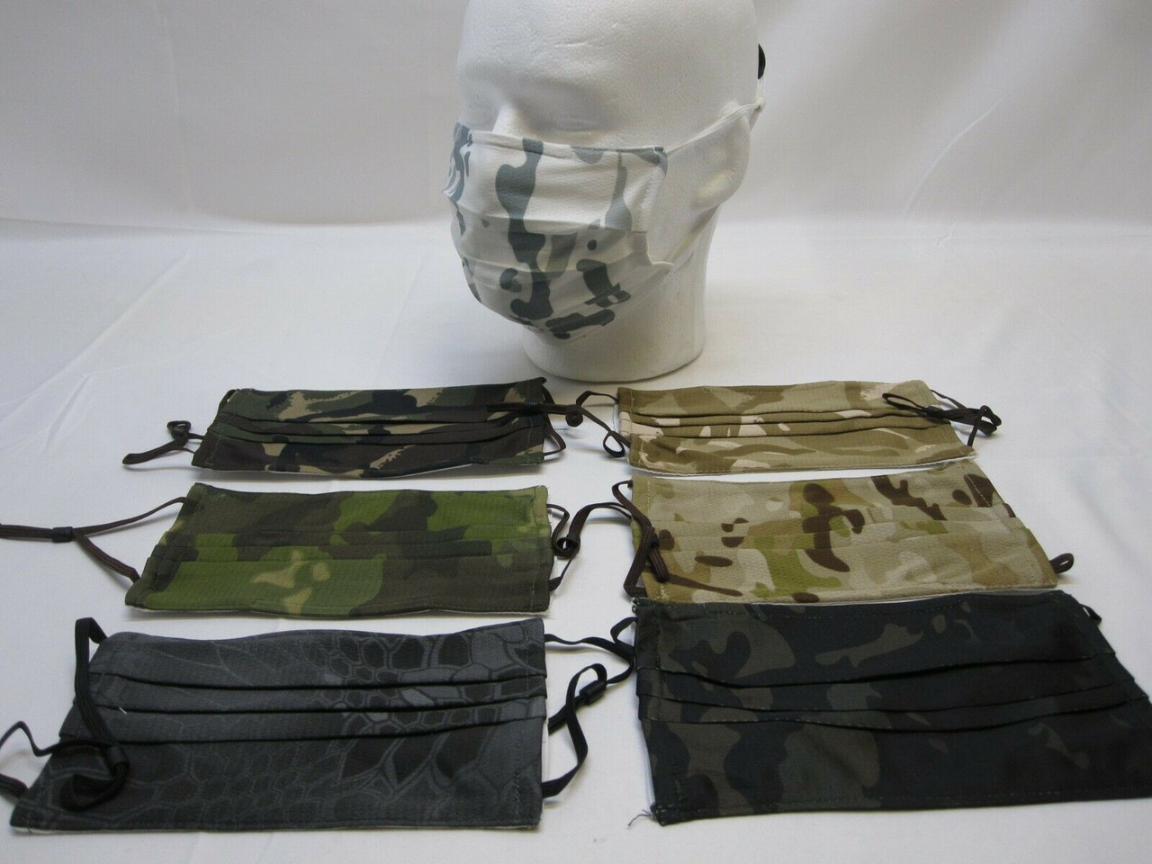 NEW MILITARY CAMO FACE MASK COVER REUSABLE WASHABLE BREATHABLE w. FILTER POCKET