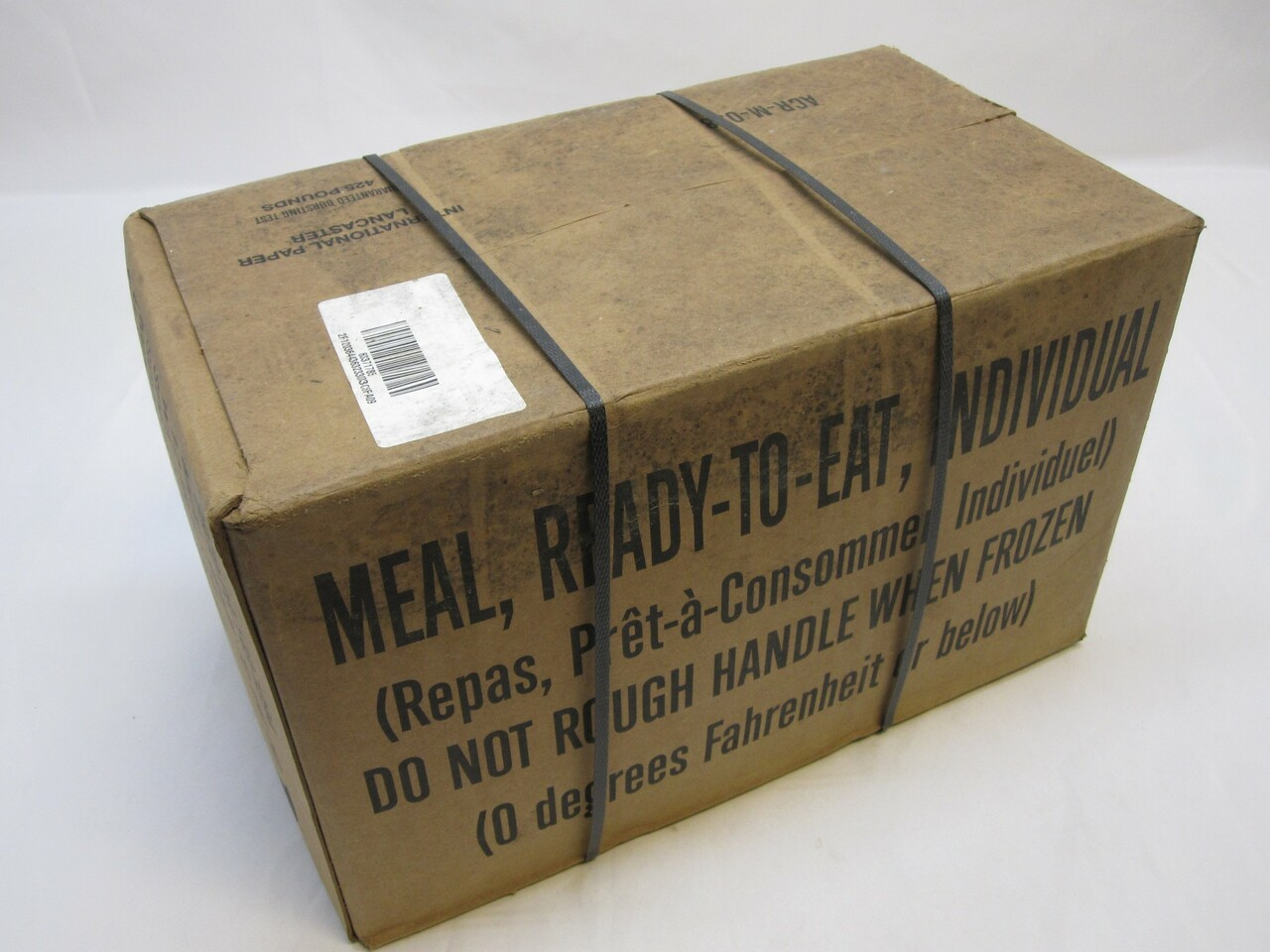 (1) CASE MEALS READY TO EAT MRE CASE B MENU 13-24 MREs FOOD RATIONS INSP 2021
