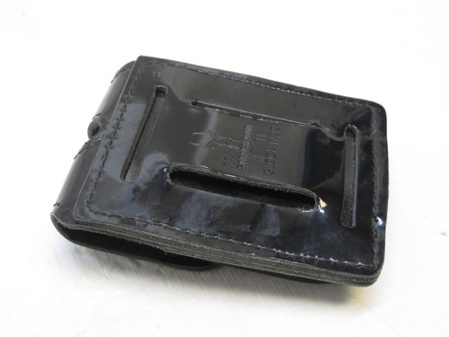 SAFARILAND GLOCK 17,22 PISTOL DOUBLE MAGAZINE HOLDER DUTY BELT POUCH BLACK GLOSS