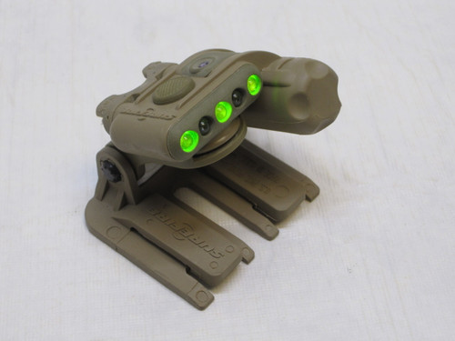 SUREFIRE HELMET LIGHT YELLOW/GREEN - IR W/ MOLLE MOUNT USED