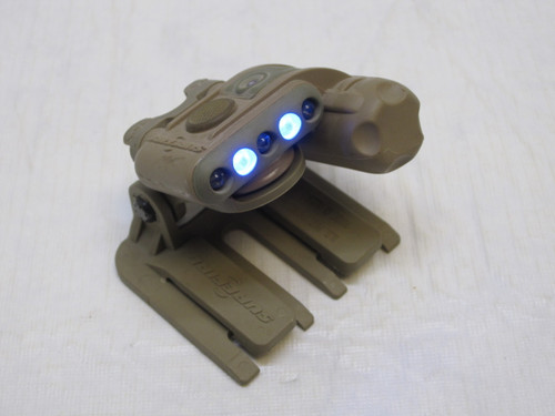 SUREFIRE HELMET LIGHT WHITE/BLUE - IR STROBE W/ MOLLE MOUNT USED