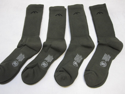 4 PACK ARMY FLAME RESISTANT COMBAT BOOT SOCKS DARN TOUGH MEDIUM b3