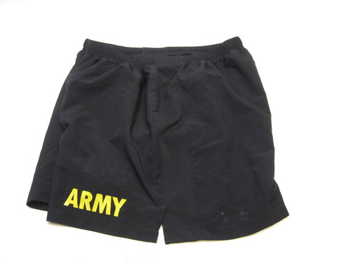 US ARMY PT SHORTS PHYSICAL TRAINING GYM SHORT SWIM TRUNKS LARGE b3