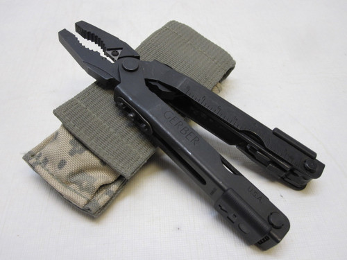 MILITARY GERBER MULTI-TOOL MP600 BLUNT NOSE PLIERS BLACK OXIDE ACU SHEATH b3