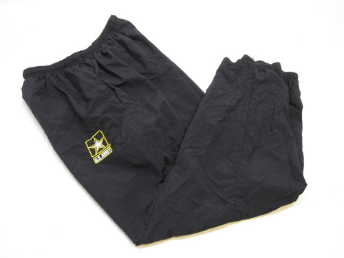 US ARMY BLACK/GOLD COLD WEATHER PT PANTS MEDIUM/REGULAR PTs a2
