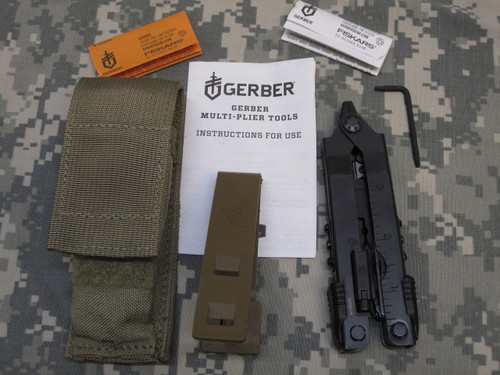 GERBER MULTI-TOOL NEEDLE NOSE PLIERS SIGHT TOOL MP600-ST COYOTE SHEATH