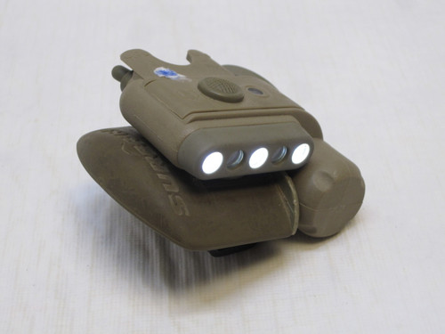 SUREFIRE HELMET LIGHT WHITE/BLUE - IR STROBE ACH/MICH MOUNT USED