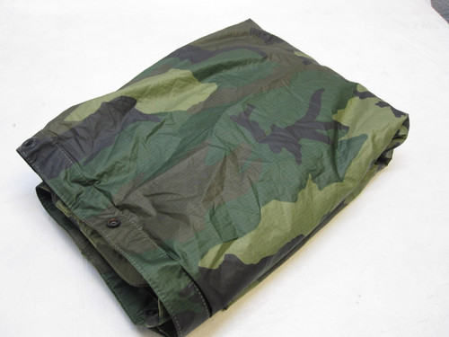 USGI WOODLAND MILITARY PONCHO WET WEATHER RAIN GEAR 8405-01-100-0976 c0
