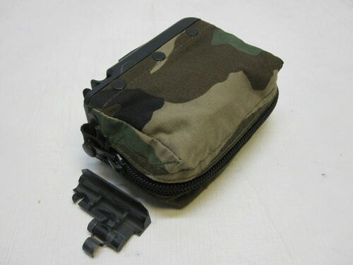 WOODLAND BDU M249 AMMO POUCH 100 ROUND SOFT PACK NUT SACK SAW START TAB 5.56 b0