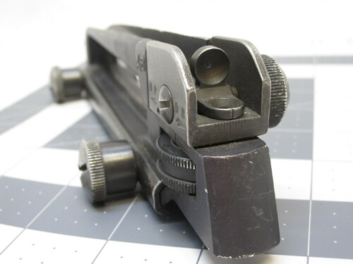 COLT OR FN 5.56/.223 USGI REAR SIGHT PICATINNY RAIL MOUNT CARRY HANDLE w/ FORGE MARK