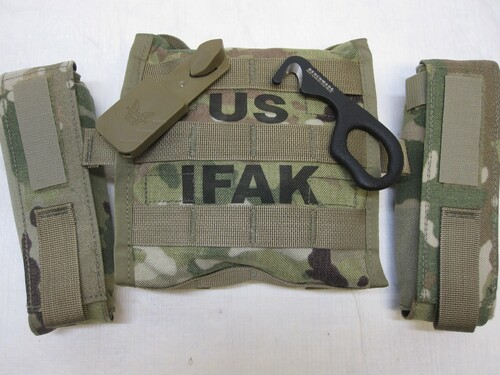 ARMY OCP SCORPION IMPROVED SOLDIERS FIRST AID KIT IFAK II w/ MEDICAL SUPPLIES