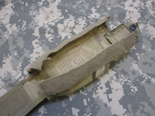 (1) ARMY ISSUE OCP MULTICAM IFAK II CAT TOURNIQUET MOLLE POUCH HOLDER (EMPTY)