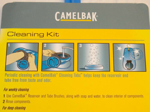 CAMELBAK CLEANING KIT HYDRATION SYSTEM WATER BLADDER SCRUB BRUSHES DRYER & TABS