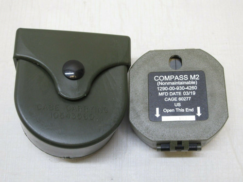 GENUINE MILITARY M2 BRUNTON POCKET TRANSIT COMPASS ARTILLERY 1290-00-930-4260