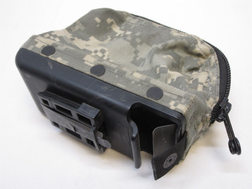 USED ACU DIGITAL M249 AMMO POUCH 100 ROUND SOFT PACK NUT SACK SAW 5.56