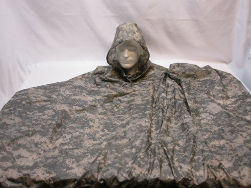 USGI ARMY ISSUE RAIN PONCHO WET WEATHER GEAR ACU DIGITAL UCP 8405-01-547-2555