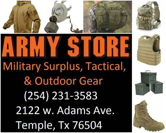 ARMY SURPLUS, MILITARY GEAR, TACTICAL, & OUTDOOR SUPPLIES, KILLEEN