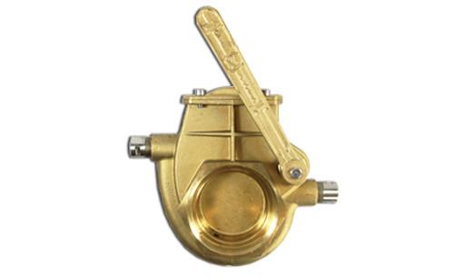 Heated Brass Lever Valve