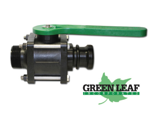 Poly Bolted Ball Valve- NPT Male x NPT Male Adapter