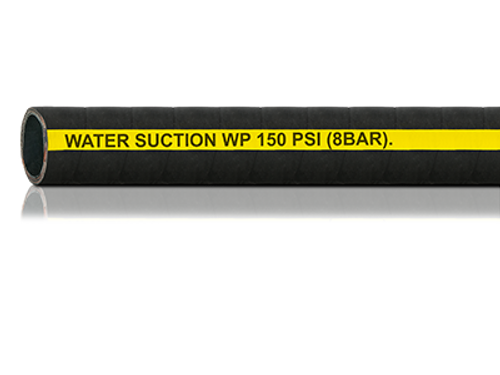 Black Rubber Water Suction Hose