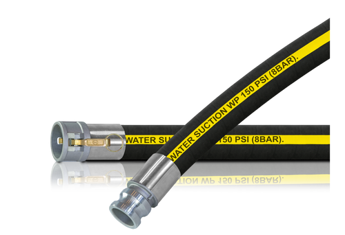 Rubber Water Suction Hose Assembly (C x E)