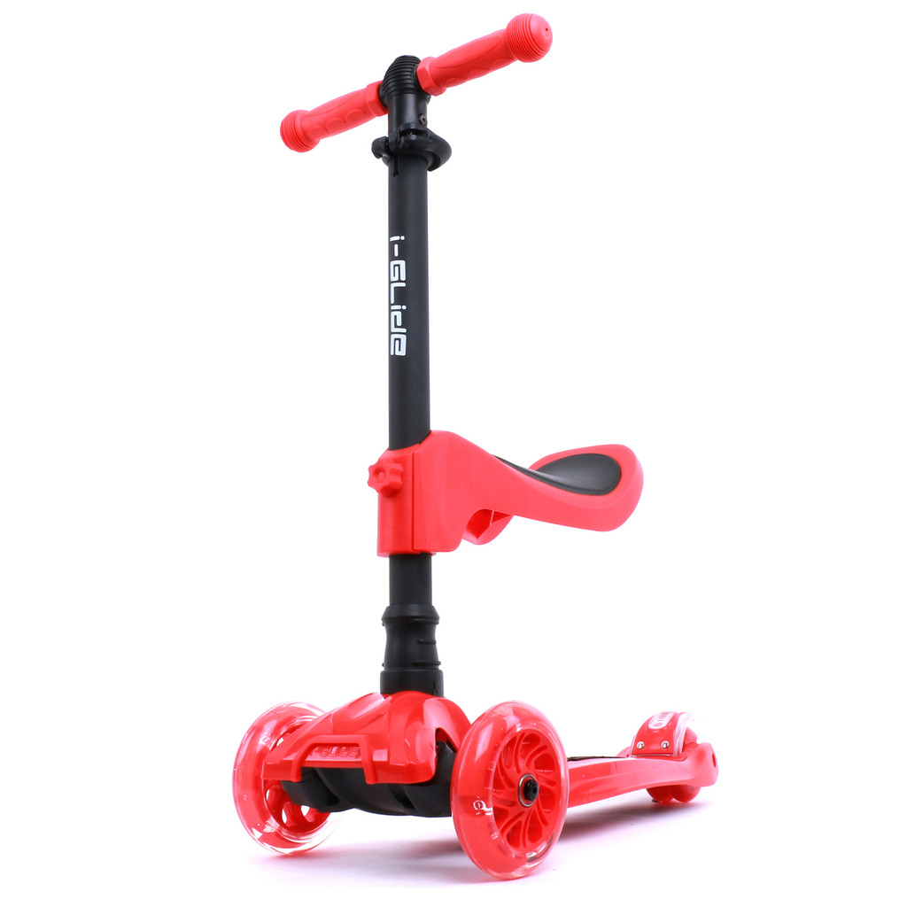 Kids 3-wheel Scooter + Seat | Red