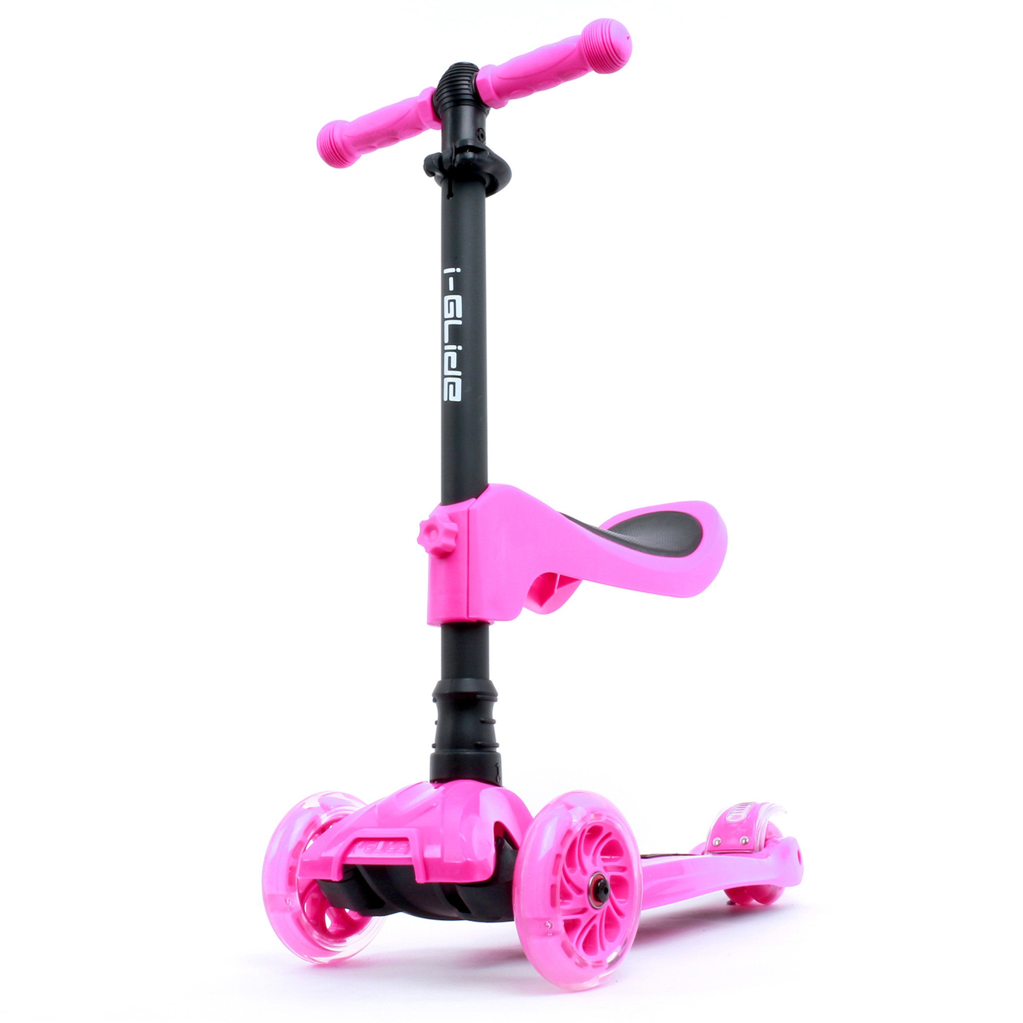 Kids 3-wheel Scooter + Seat | Pink