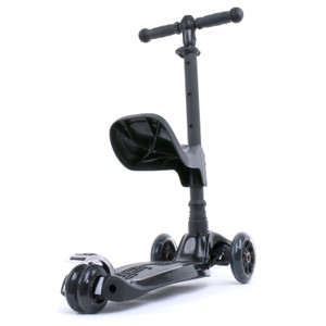 Kids 3-wheel Scooter + Seat | Black