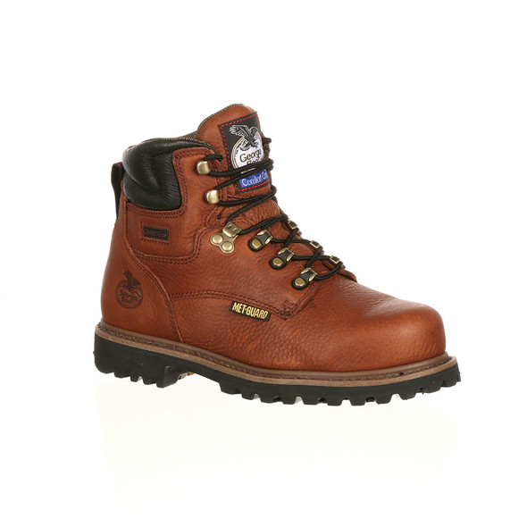 "Georgia 6"" Hammer Internal Met Guard Steel Toe Boots G6315"