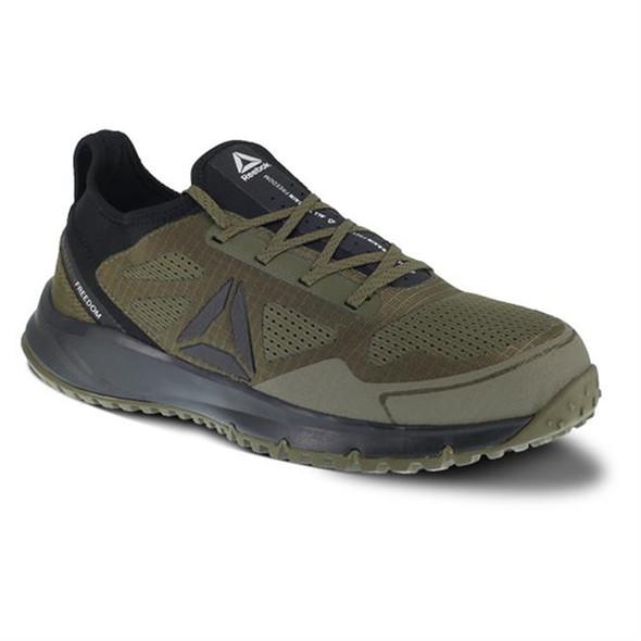 Reebok All Terrain Work Steel Toe Shoe Blk/Red RB4092