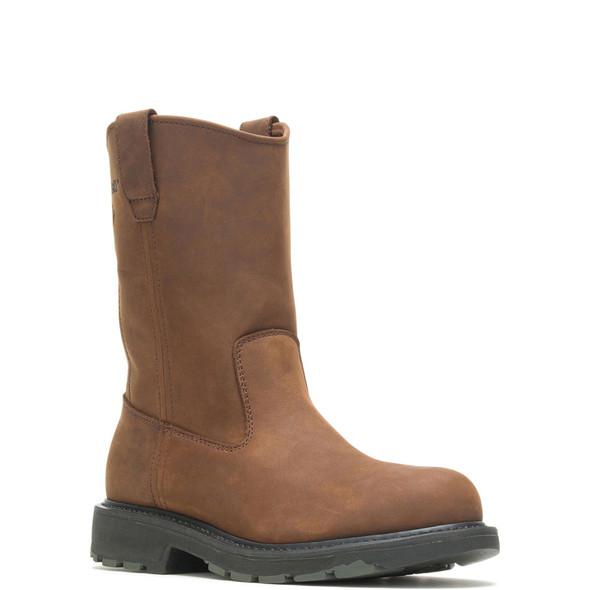 "Wolverine 10"" Leather Wellington Steel Toe Boots W04707"