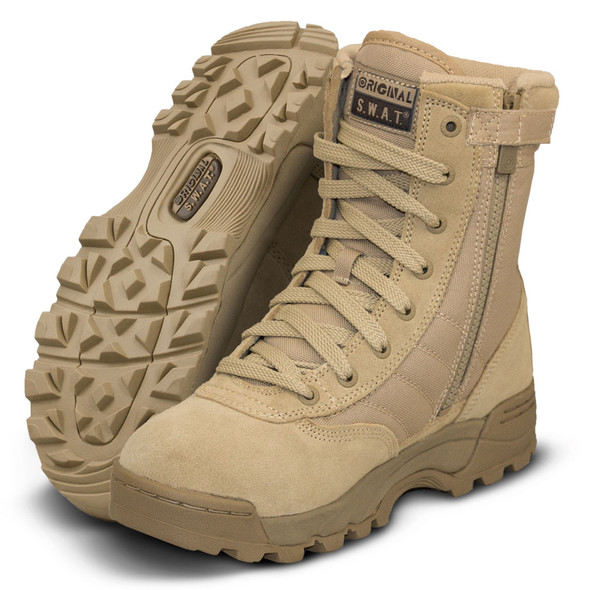 "Original SWAT Classic 9"" Tan Side Zip Boots 115202"