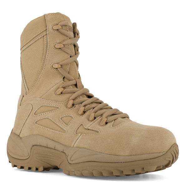 Reebok Rapid Response RB Tan Composite Toe Side Zip Boots RB8894