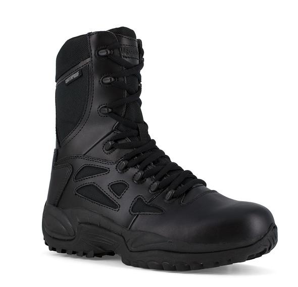 "Reebok Women's 8"" Rapid Response RB Side Zip Waterproof Boots RB877"