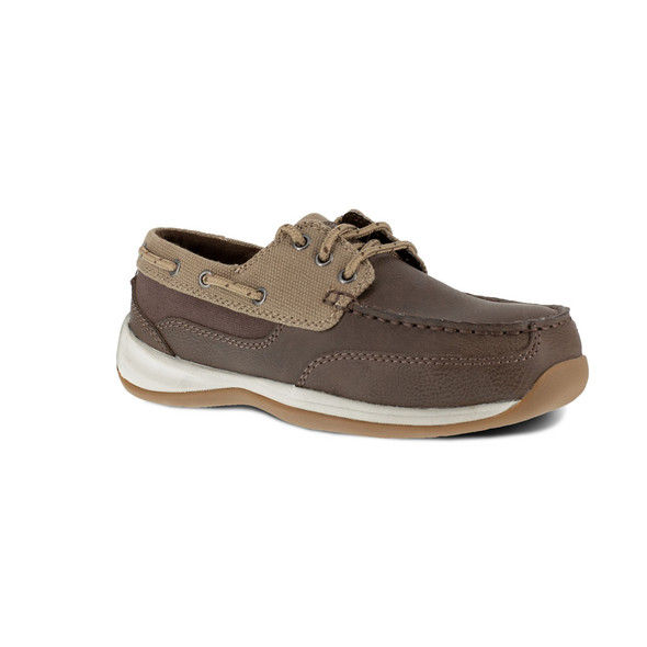 Rockport Works Women's Sailing Club 3 Eye Tie Boat Shoe Steel Toe RK641