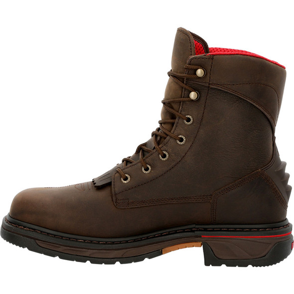 """Rocky 8"""" Composite Toe Waterproof Western Lacer Boots RKW0361"""