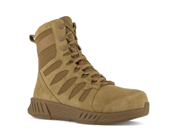 "Reebok Men's 8"" Floatride Energy Tactical Composite Toe Side-Zip Boots RB4360"