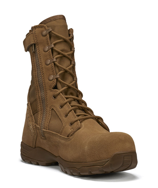 Tactical Research Flyweight Coyote Composite Toe Side Zip Boots TR596ZCT