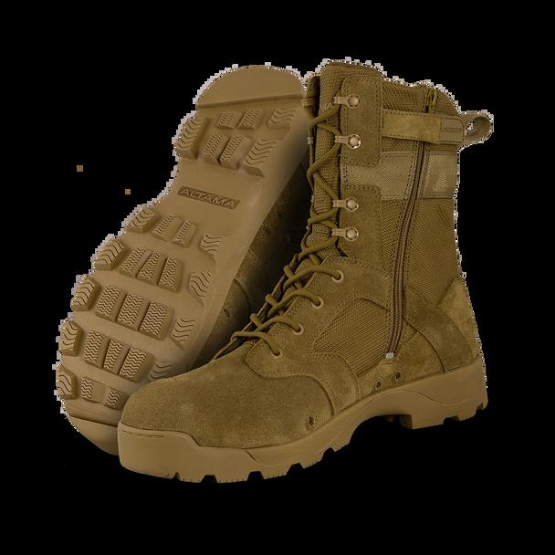 Altama Jungle Assault Coyote Composite Toe Side Zip Boots 351603