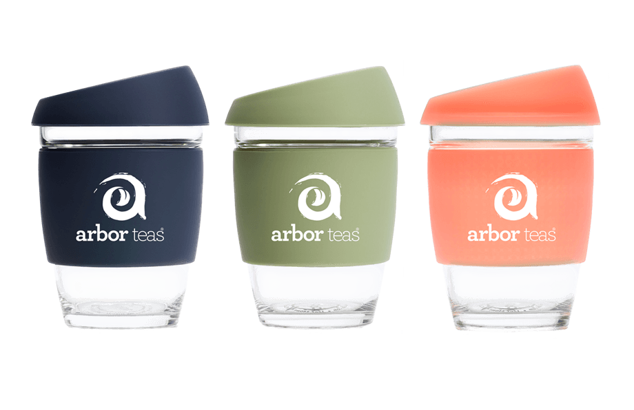 Arbor Teas Glass Travel Cup