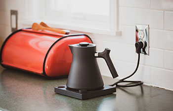 Corvo Electric Kettle in Kitchen