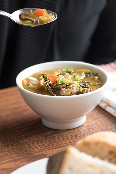 Immunity Boosting Mushroom and Burdock Root Soupe