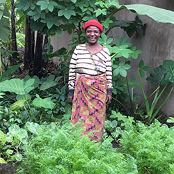 Twa Villager with her Perma-garden