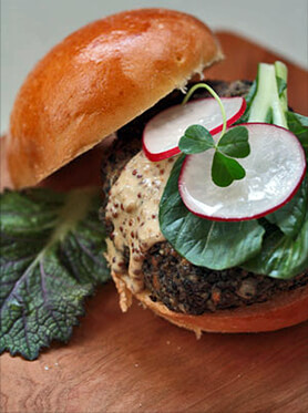 Smoky Yerba Mate Lentil Burgers Recipe