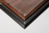 Certificate Plaque; corners of walnut and black plaquees