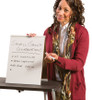 Tabletop Whiteboard, PORTRAIT orientation, w/ woman facilitating