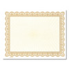 Certificate Paper, Color border with Gold Center GOLD