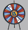 Prize Wheel (18-Pocket) Tabletop/Floor model; customized graphics