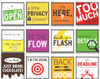 DeskMate, assortment of signs